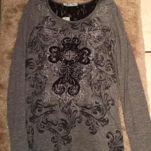 NWT Maurices cross longsleeve shirt lace M